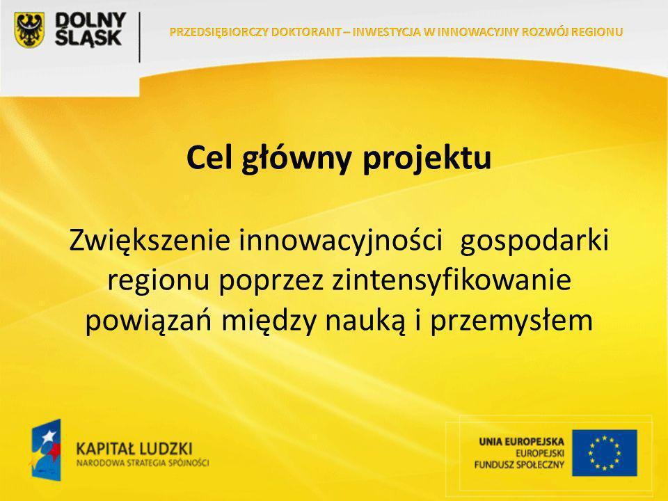 Cel główny projektu Zwiększenie innowacyjności gospodarki regionu poprzez zintensyfikowanie powiązań między nauką i przemysłem