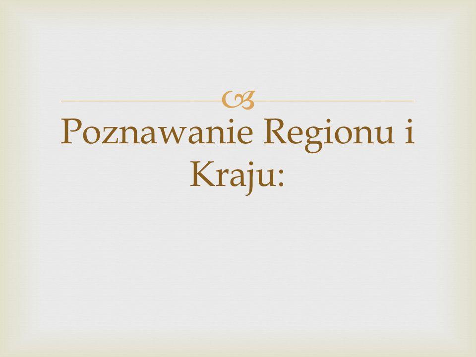 Poznawanie Regionu i Kraju: