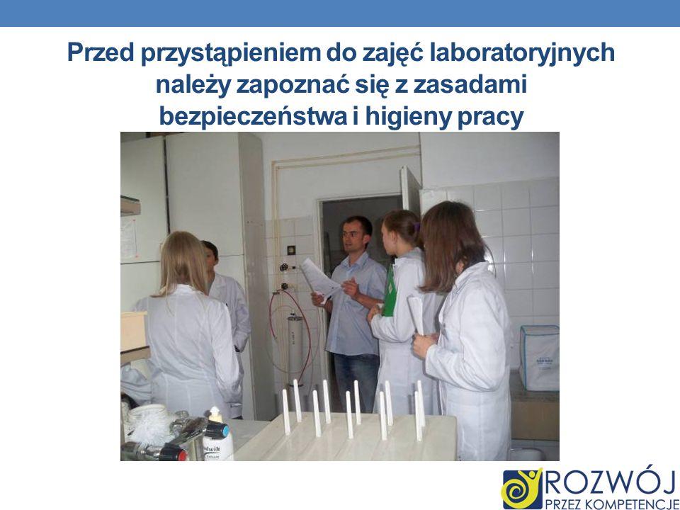 Hydrologia jako NAUKA Przed przystąpieniem do zajęć laboratoryjnych należy zapoznać się z zasadami bezpieczeństwa i higieny pracy