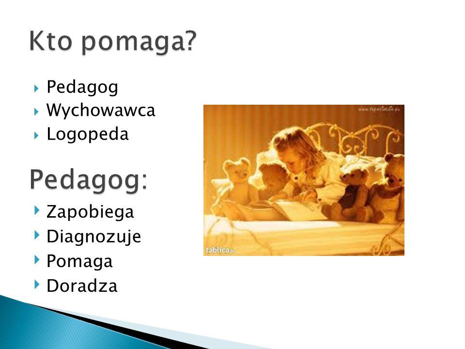 diagnoza potrzeb dziecka i organizacja pomocy psychologiczno-pedagogicznej; pomoc uczniom w rozwiązywaniu problemów; przeciwdziałanie trudnościom wychowawczym, emocjonalnym, edukacyjnym;