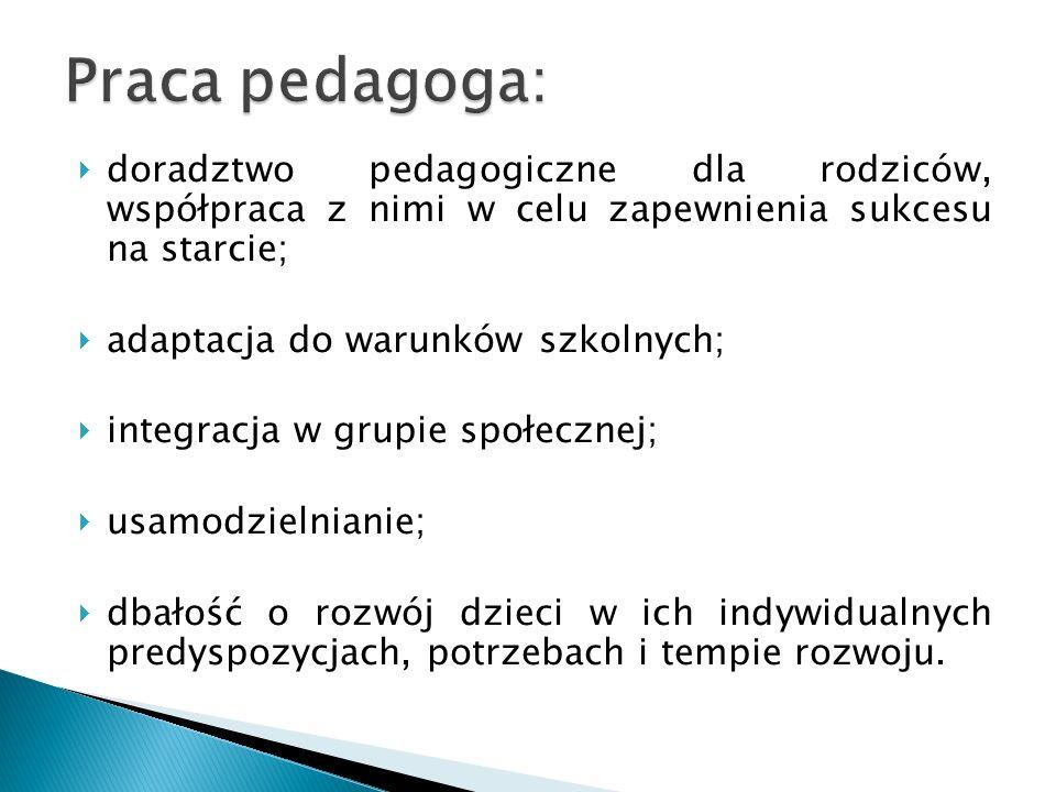 Dla dzieci mających specyficzne trudności w nauce (zaburzenia percepcji wzrokowej zaburzenia słuchu fonematycznego obniżona sprawność grafomotoryczna).