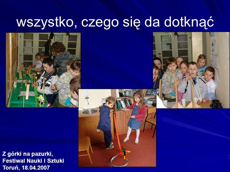 wszystko, czego się da dotknąć Z górki na pazurki, Festiwal Nauki i Sztuki Toruń, 18.04.2007