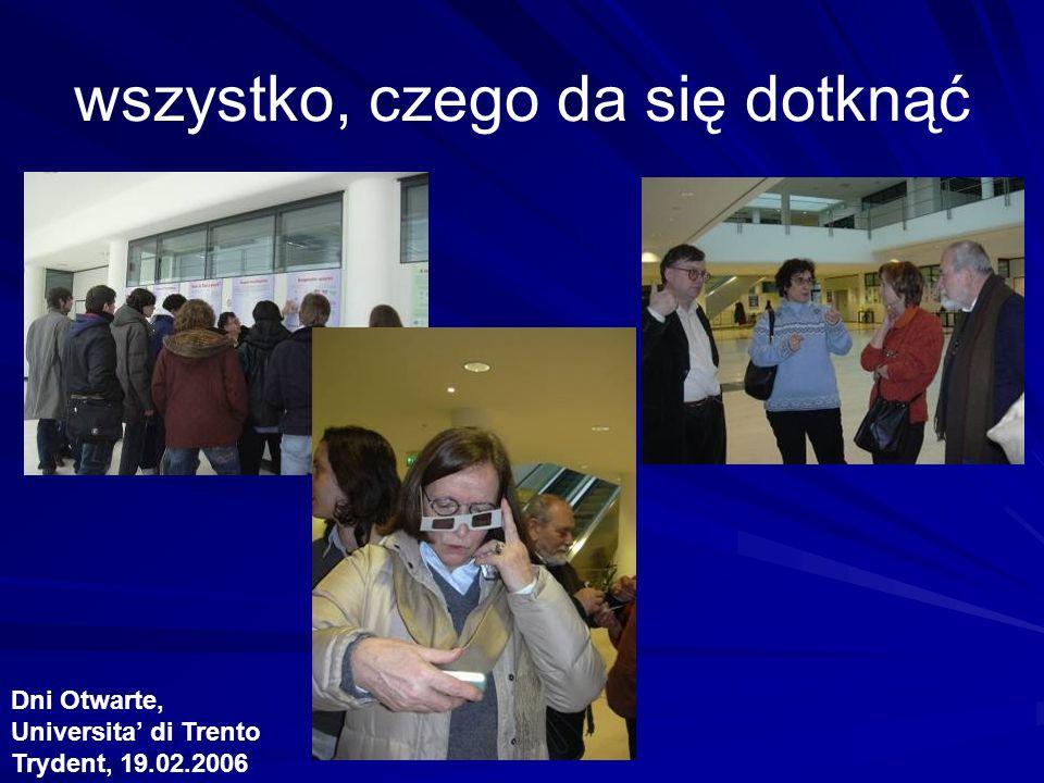 wszystko, czego da się dotknąć Dni Otwarte, Universita di Trento Trydent, 19.02.2006