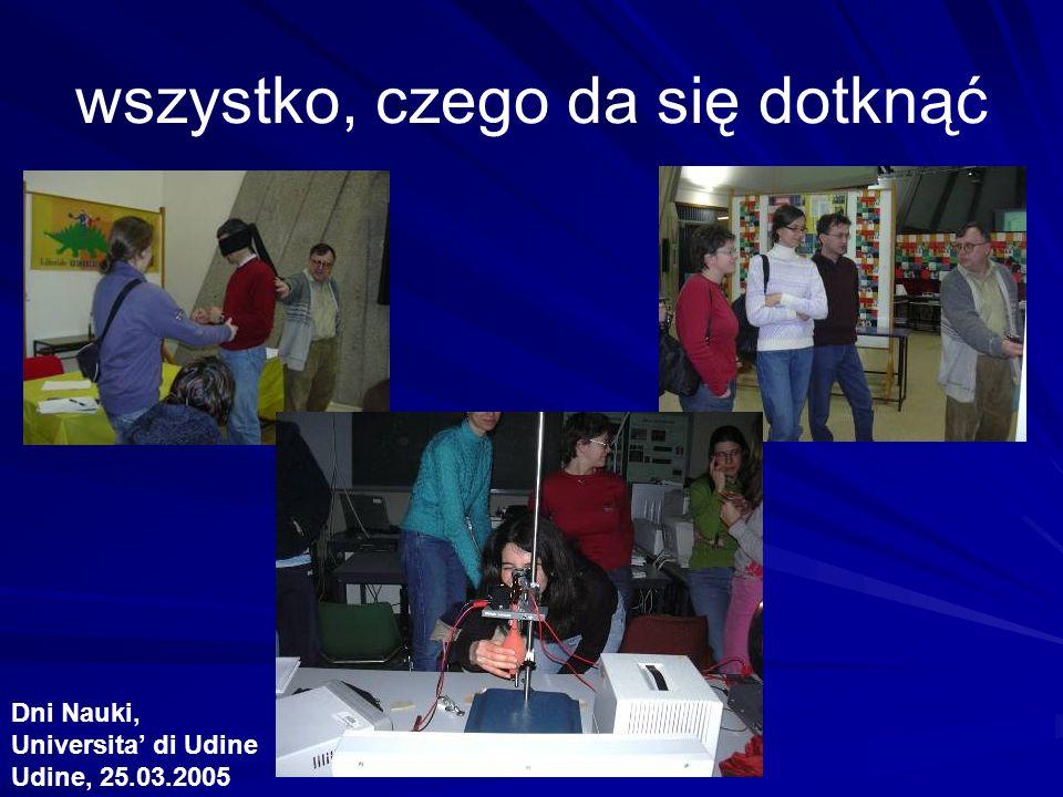 wszystko, czego da się dotknąć Dni Nauki, Universita di Udine Udine, 25.03.2005