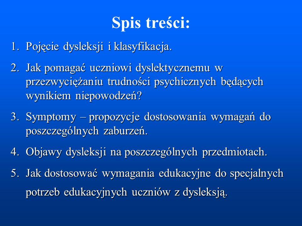 Dostosowywanie wymagań edukacyjnych do specjalnych potrzeb uczniów z dysleksją. - starszy wiek szkolny Szkolenie Rady Pedagogicznej ZSM 2006/2007 Opra