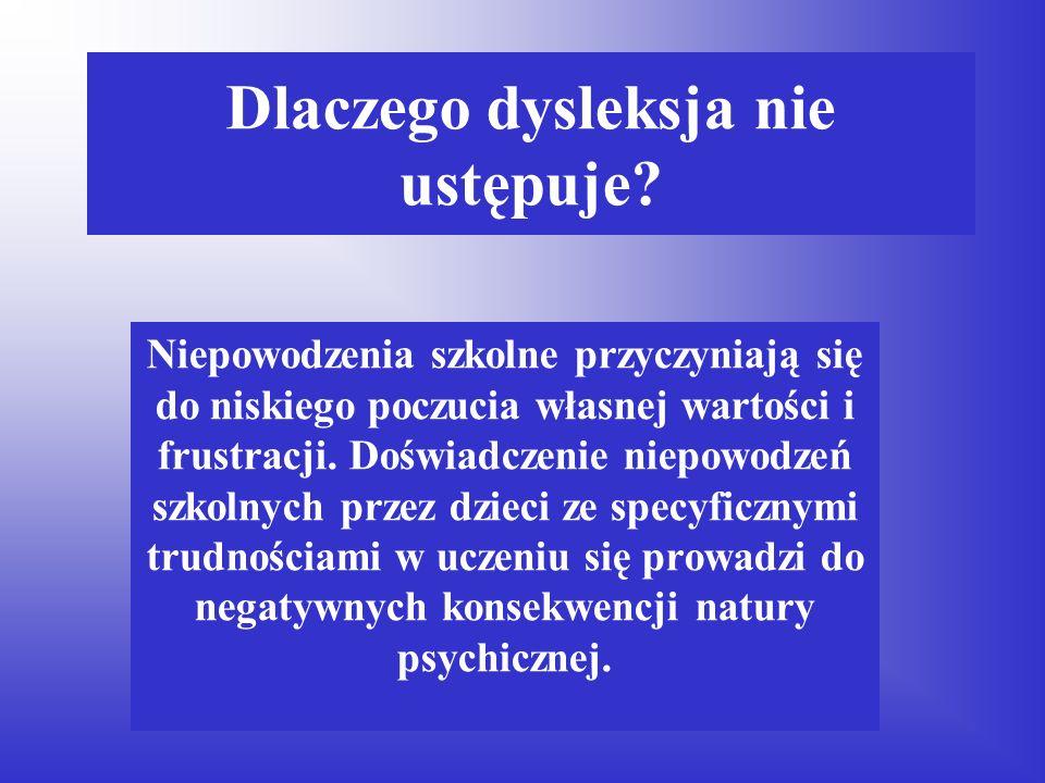 Przyczyny dysleksji Deficyty rozwojowe: zaburzenia funkcji percepcyjno – motorycznych. Analizy i syntezy wzrokowej, Analizy i syntezy słuchowej, Motor