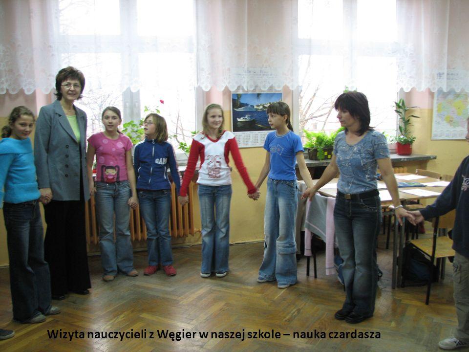 Wizyta nauczycieli z Węgier w naszej szkole – nauka czardasza