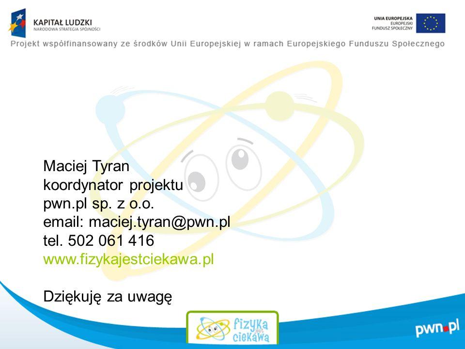 Maciej Tyran koordynator projektu pwn.pl sp.z o.o.