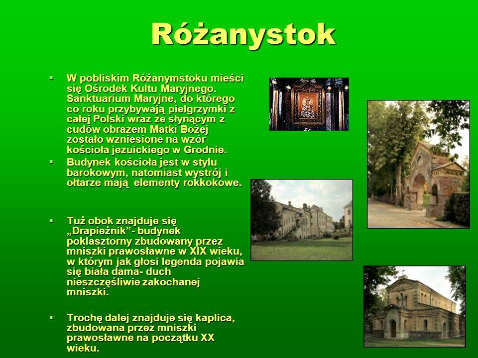 Różanystok W pobliskim Różanymstoku mieści się Ośrodek Kultu Maryjnego.