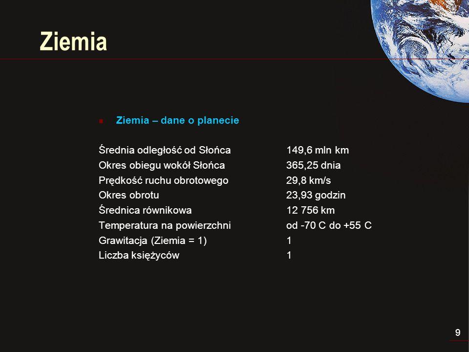 10 Ziemia – klejnot w kosmosie ZIEMIA jest wyjątkowa w Układzie Słonecznym i przypuszczalnie jest unikalną w całym Wszechświecie.