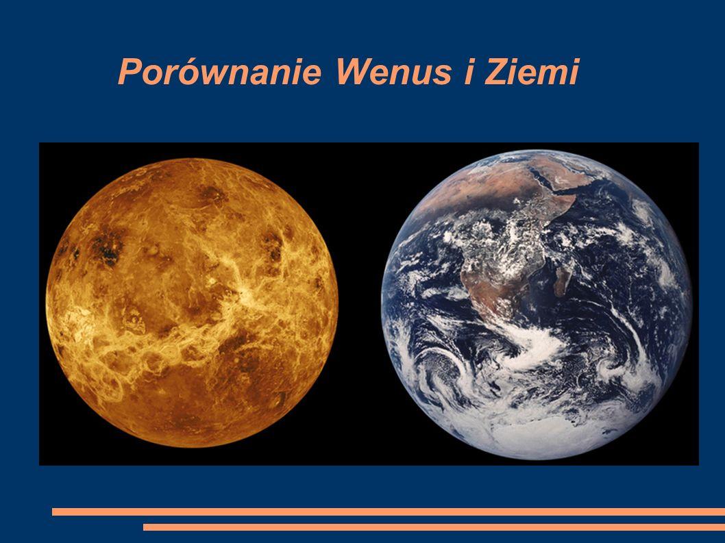 Porównanie Wenus i Ziemi