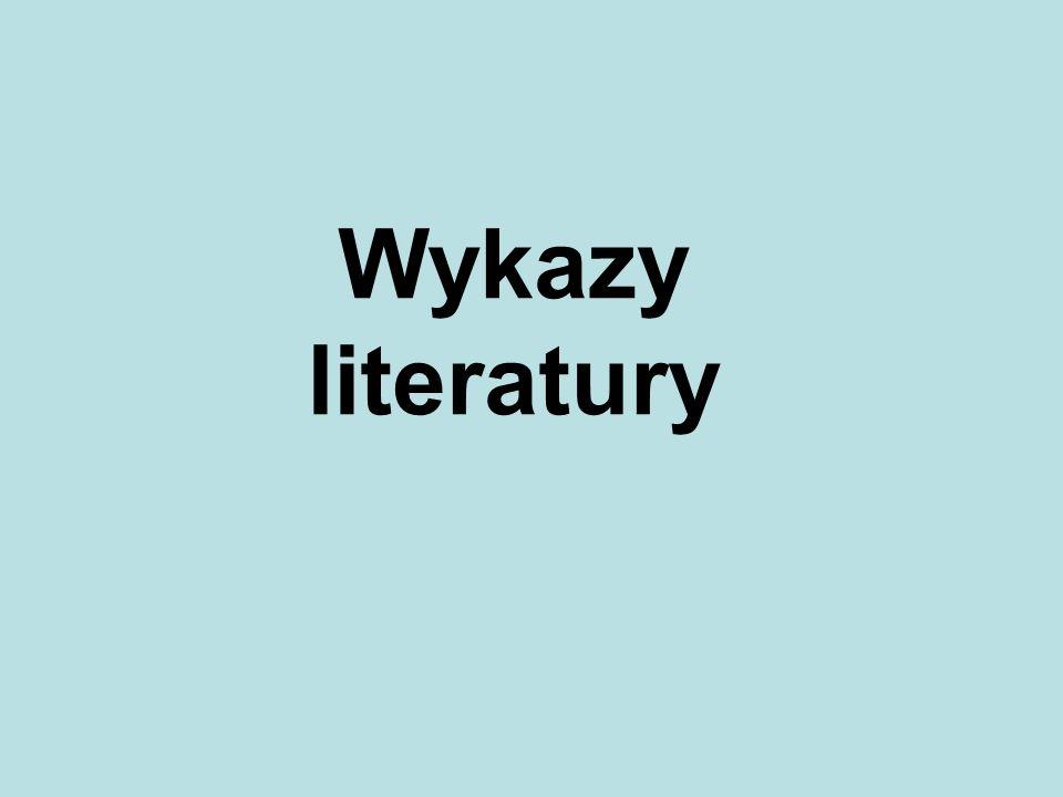 Wykazy literatury