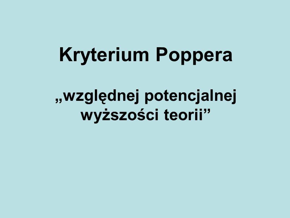 Kryterium Poppera względnej potencjalnej wyższości teorii