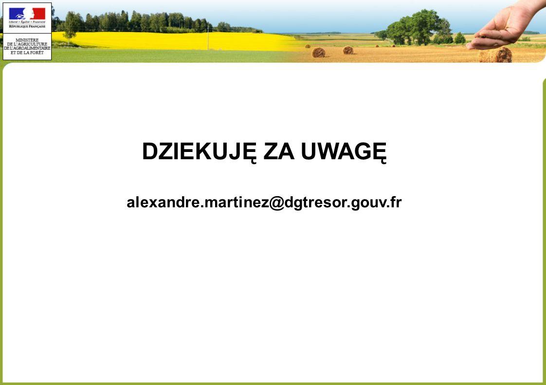 DZIEKUJĘ ZA UWAGĘ alexandre.martinez@dgtresor.gouv.fr
