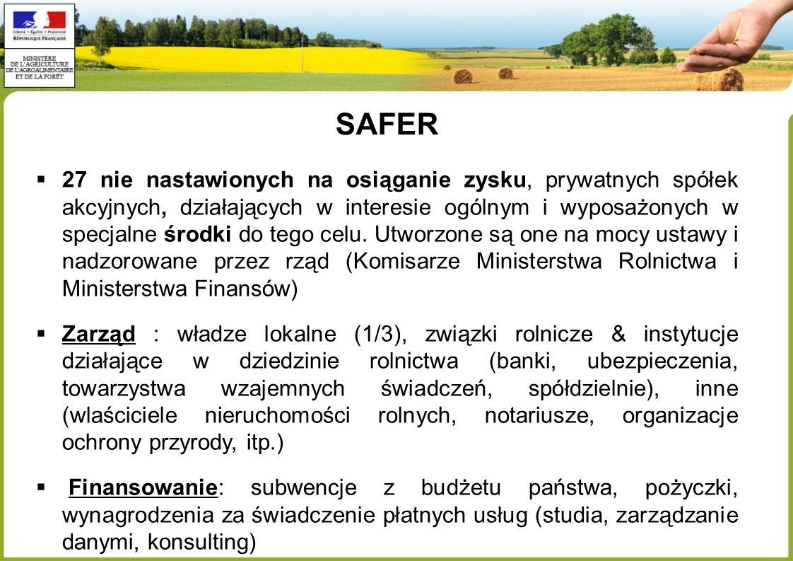 SAFER 27 nie nastawionych na osiąganie zysku, prywatnych spółek akcyjnych, działających w interesie ogólnym i wyposażonych w specjalne środki do tego celu.