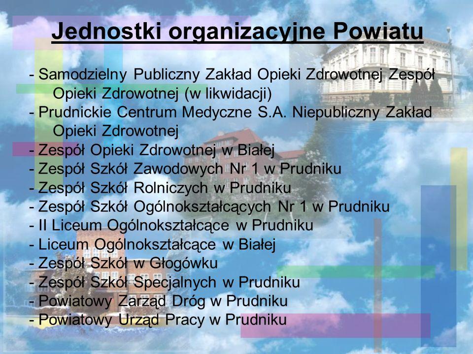 - Samodzielny Publiczny Zakład Opieki Zdrowotnej Zespół Opieki Zdrowotnej (w likwidacji) - Prudnickie Centrum Medyczne S.A. Niepubliczny Zakład Opieki