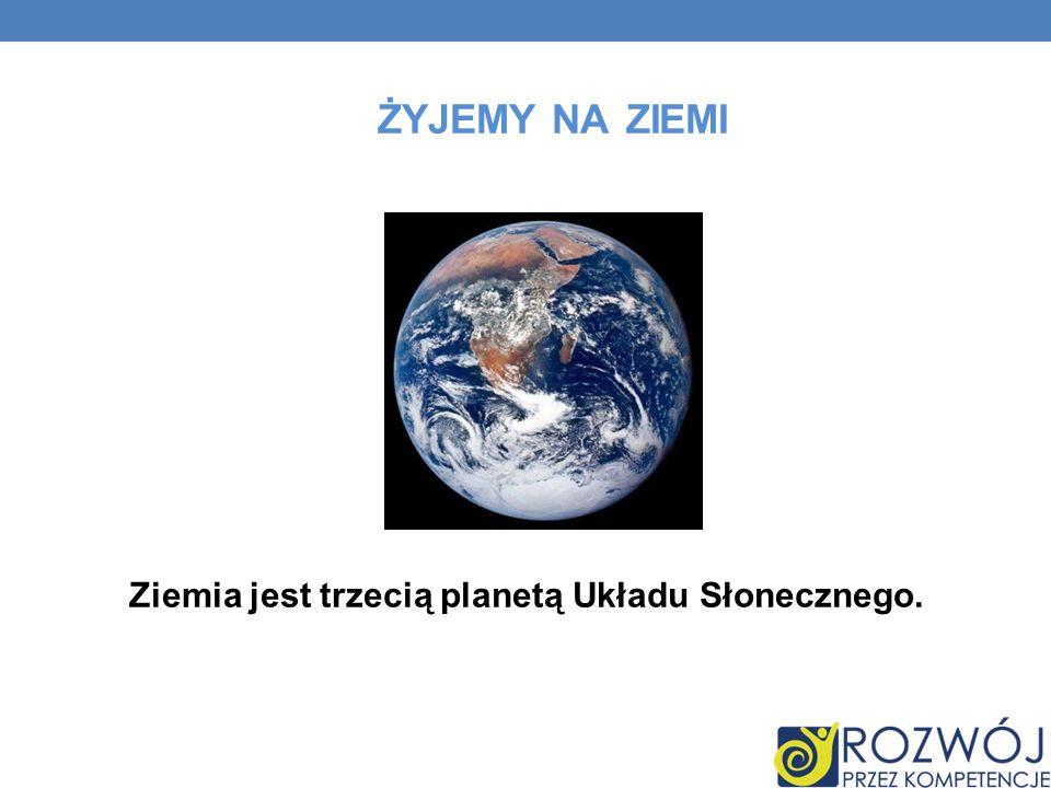 ŻYJEMY NA ZIEMI Ziemia jest trzecią planetą Układu Słonecznego.