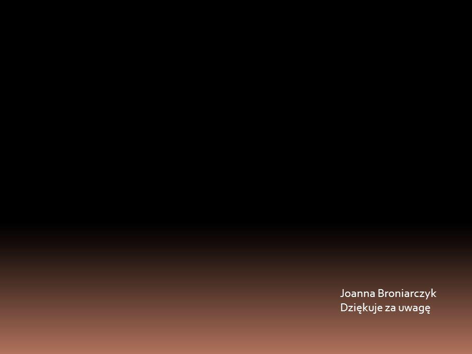 Joanna Broniarczyk Dziękuje za uwagę