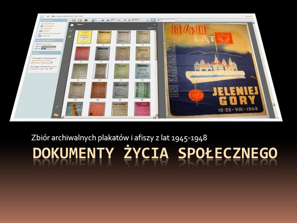 Zbiór archiwalnych plakatów i afiszy z lat 1945-1948