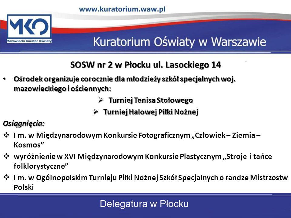 SOSW nr 7 w Płocku ul.Kossobudzkiego 24 Od 1996 r.