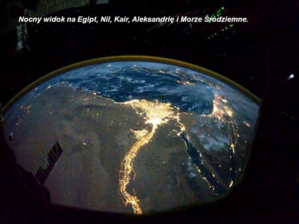 Sahara, Egipt i Nil, Morze Czerwone, Półwysep Synaj widoczne z kosmosu w ciągu dnia