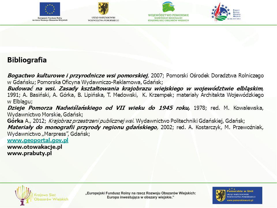 Bibliografia Bogactwo kulturowe i przyrodnicze wsi pomorskiej, 2007; Pomorski Ośrodek Doradztwa Rolniczego w Gdańsku; Pomorska Oficyna Wydawniczo-Rekl