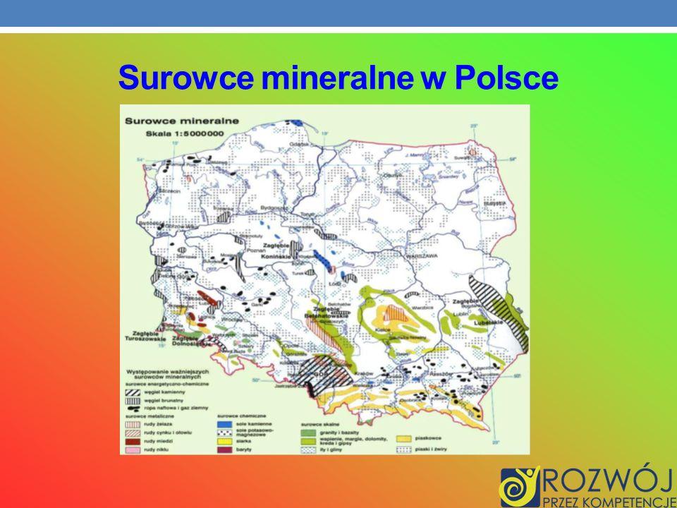 Surowce mineralne w Polsce