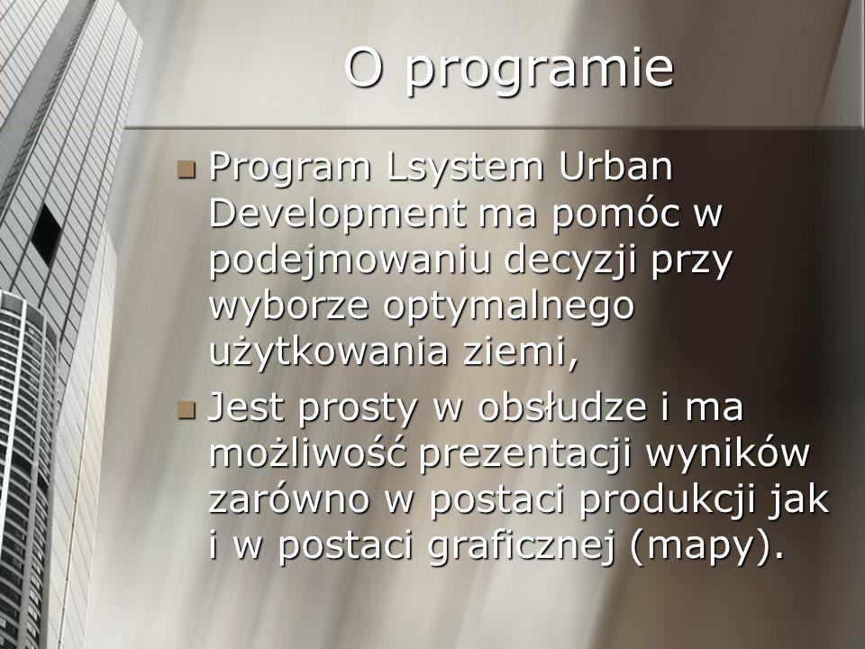 O programie Program Lsystem Urban Development ma pomóc w podejmowaniu decyzji przy wyborze optymalnego użytkowania ziemi, Program Lsystem Urban Develo
