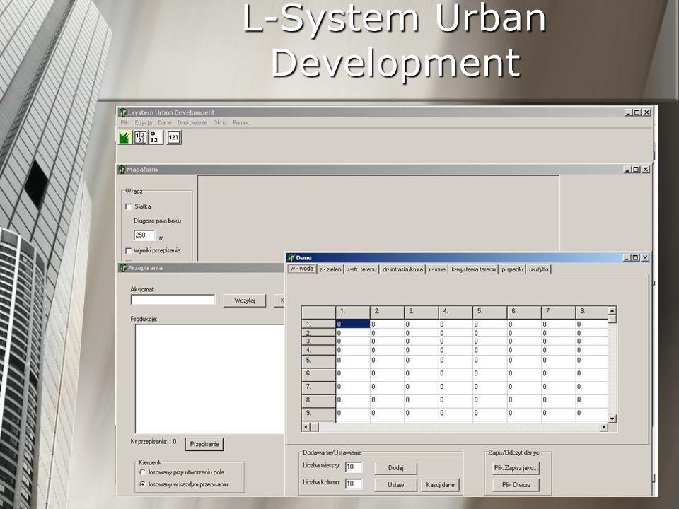 L-System Urban Development