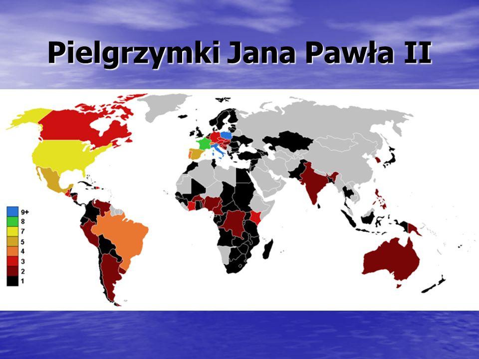 Jan Paweł II w przeciwieństwie do jego poprzedników bardzo dużo podróżował.