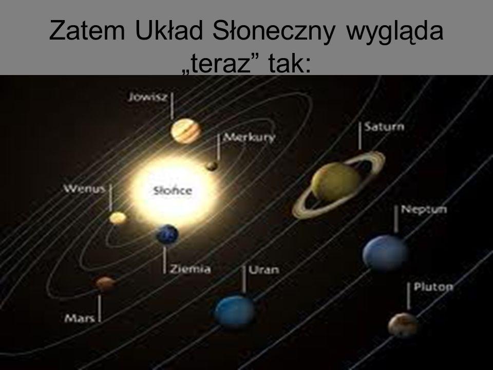 Zatem Układ Słoneczny wygląda teraz tak:
