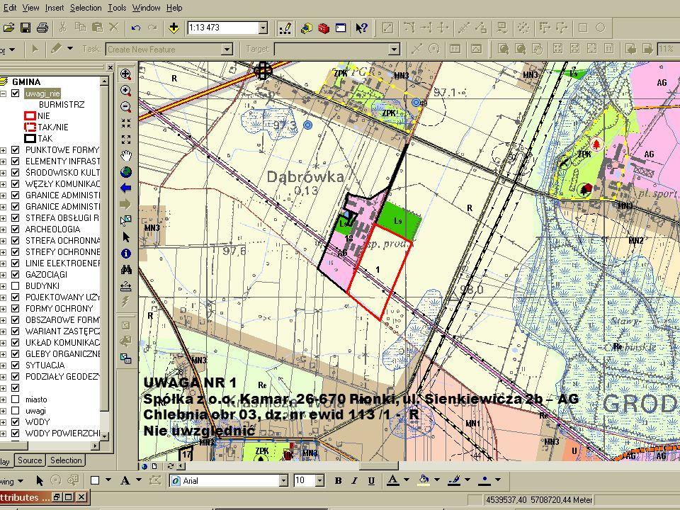 UWAGA NR 92 P. Kozłowska AG - Tłuste obr nr 29, dz ewid nr 14/2 - R., KD Nie uwzględnić