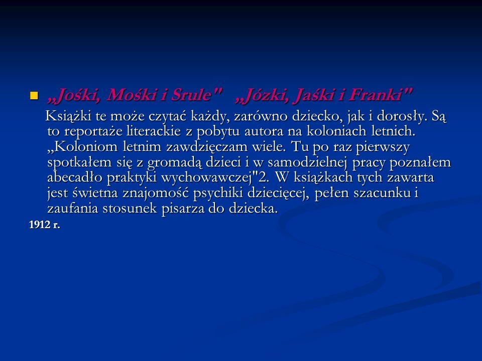 Jośki, Mośki i Srule Józki, Jaśki i Franki Jośki, Mośki i Srule Józki, Jaśki i Franki Książki te może czytać każdy, zarówno dziecko, jak i dorosły.