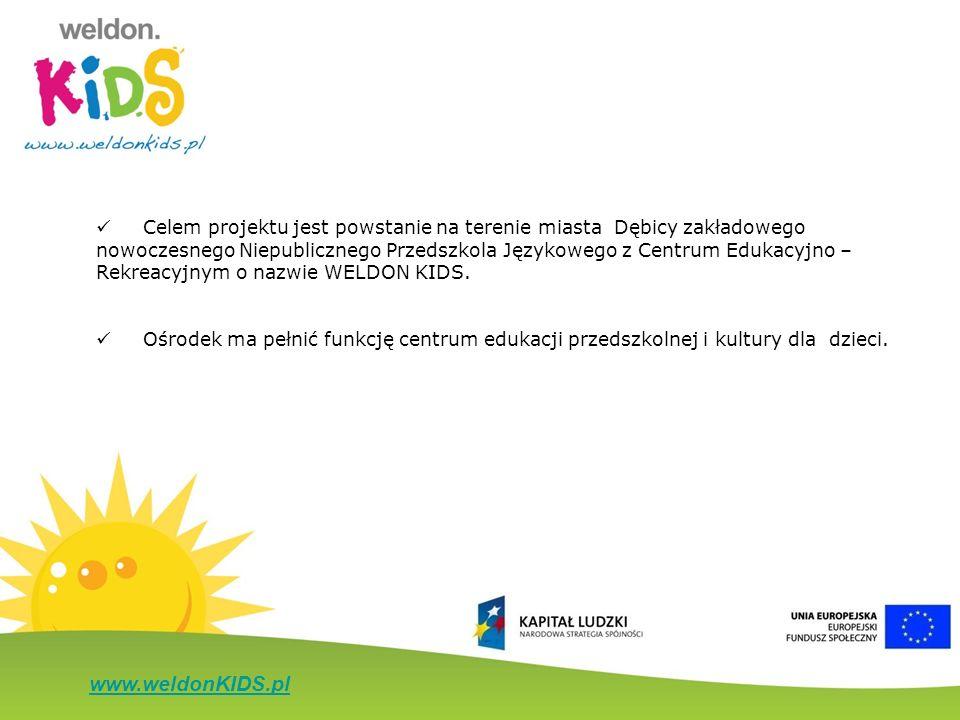 www.weldonKIDS.pl Celem projektu jest powstanie na terenie miasta Dębicy zakładowego nowoczesnego Niepublicznego Przedszkola Językowego z Centrum Eduk
