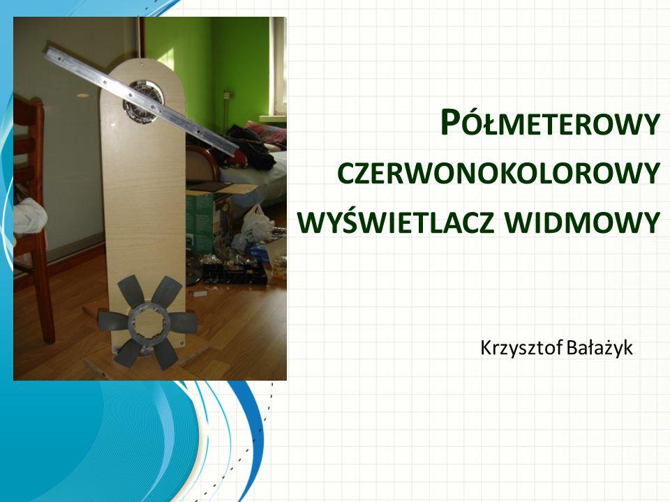 P ÓŁMETEROWY CZERWONOKOLOROWY WYŚWIETLACZ WIDMOWY Krzysztof Bałażyk