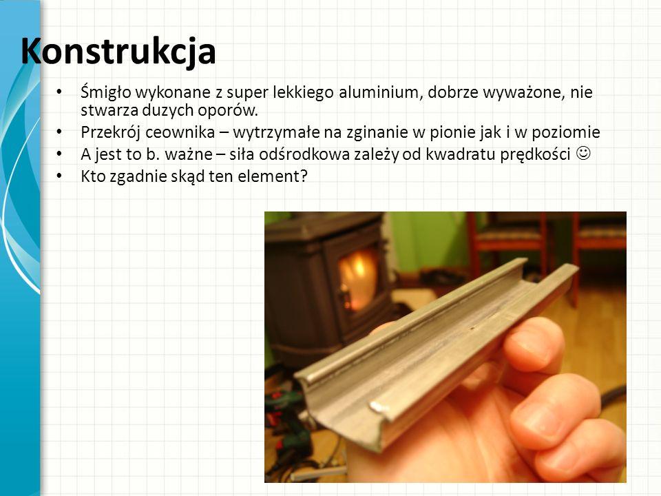 Konstrukcja Śmigło wykonane z super lekkiego aluminium, dobrze wyważone, nie stwarza duzych oporów. Przekrój ceownika – wytrzymałe na zginanie w pioni