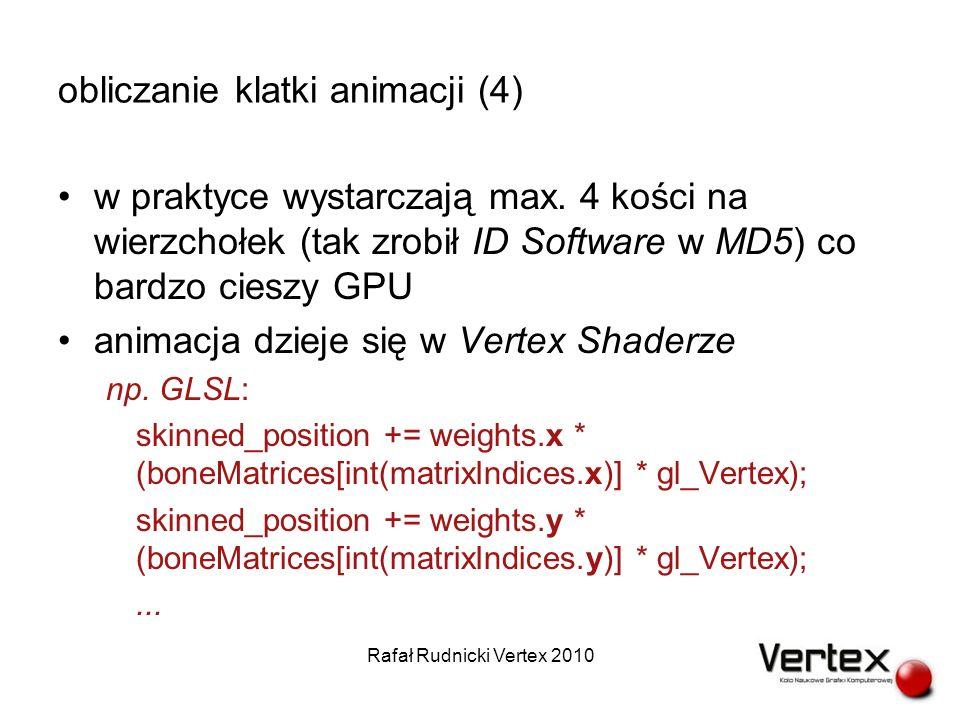 obliczanie klatki animacji (4) w praktyce wystarczają max.