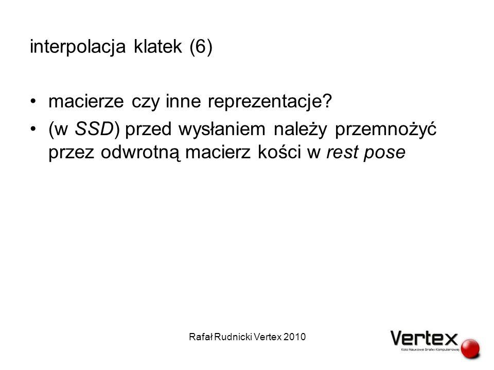 interpolacja klatek (6) macierze czy inne reprezentacje.