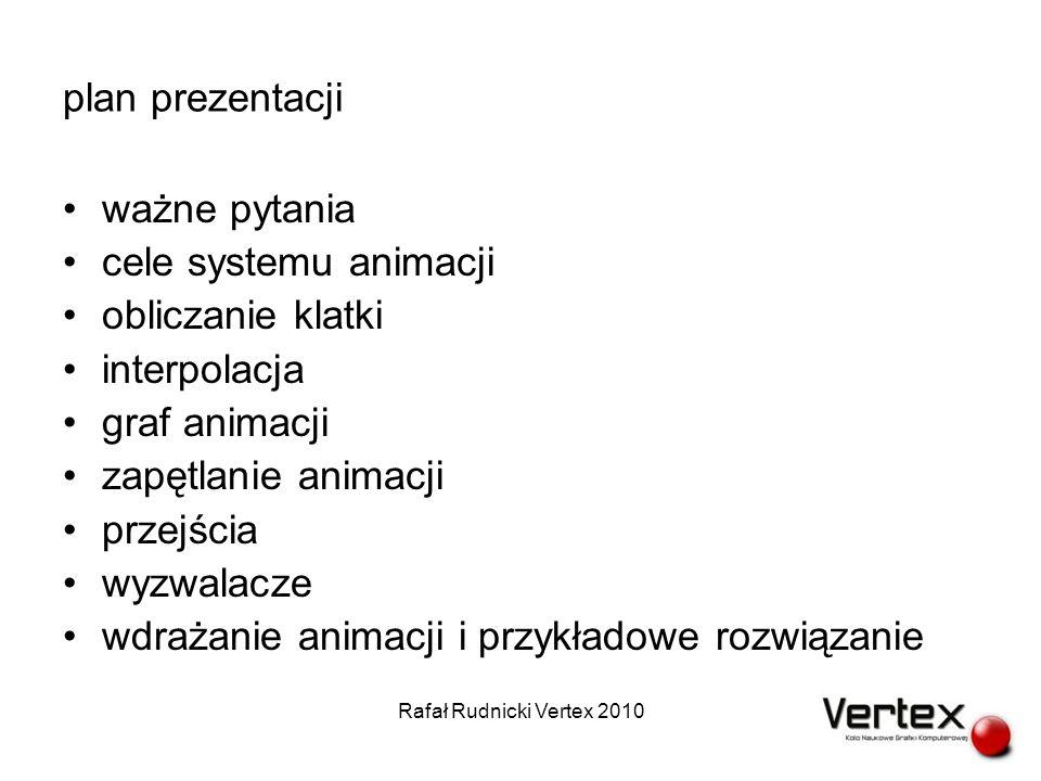 zapętlanie animacji (cykle) (3) Rafał Rudnicki Vertex 2010
