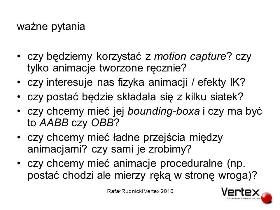 wdrażanie animacji do gry (2) przykładowy eksporter Rafał Rudnicki Vertex 2010