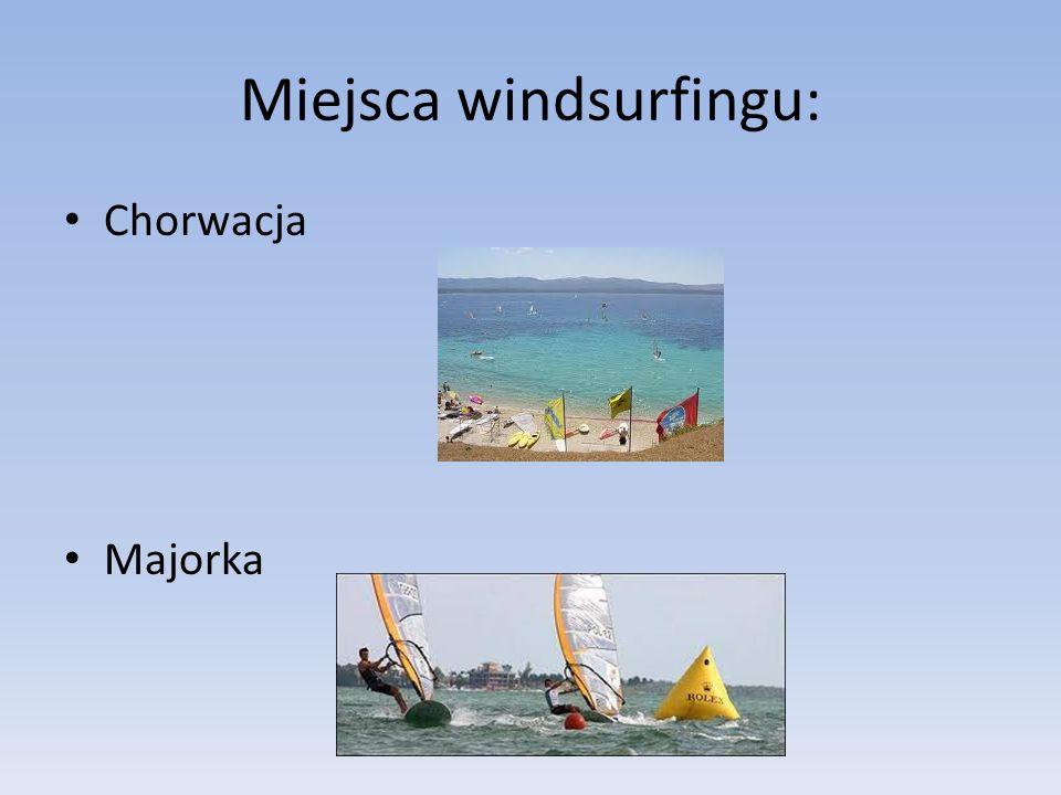 Miejsca windsurfingu: Chorwacja Majorka