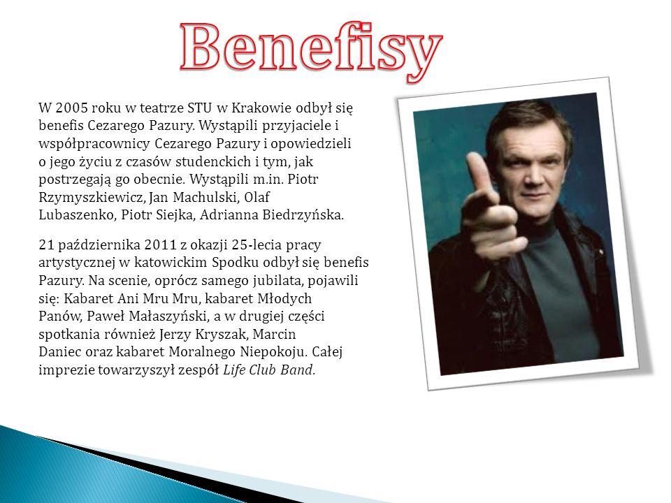 W 2005 roku w teatrze STU w Krakowie odbył się benefis Cezarego Pazury.