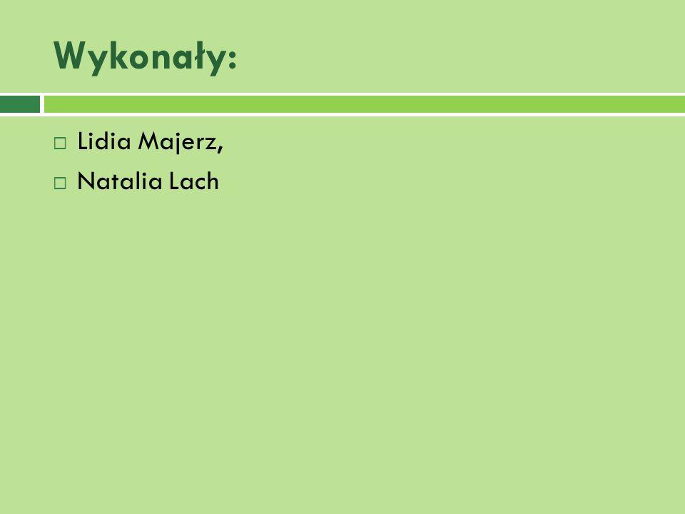 Wykonały: Lidia Majerz, Natalia Lach