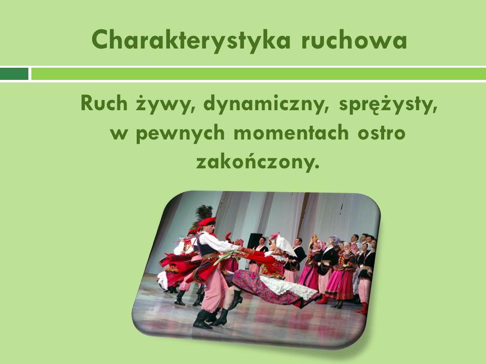Charakterystyka ruchowa Ruch żywy, dynamiczny, sprężysty, w pewnych momentach ostro zakończony.