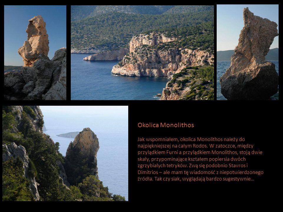 Okolica Monolithos Jak wspomniałem, okolica Monolithos należy do najpiękniejszej na całym Rodos.