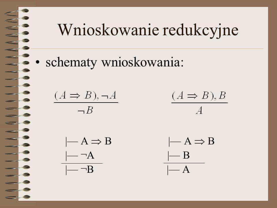 Wnioskowanie redukcyjne | Jeżeli X jest studentem, to X zdał maturę.