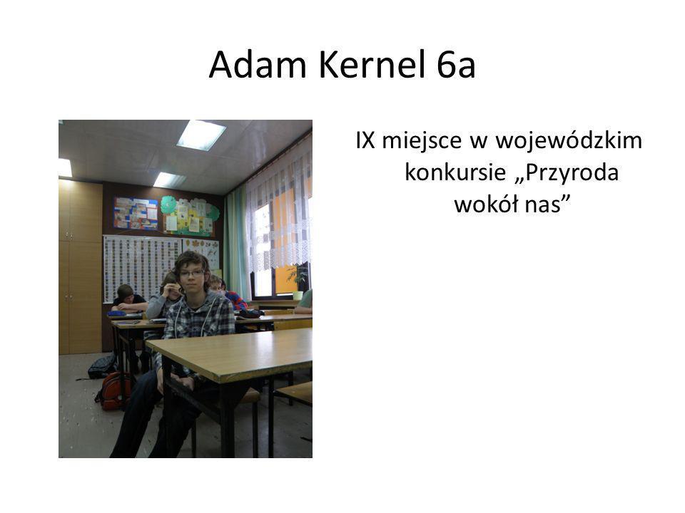 Adam Kernel 6a IX miejsce w wojewódzkim konkursie Przyroda wokół nas