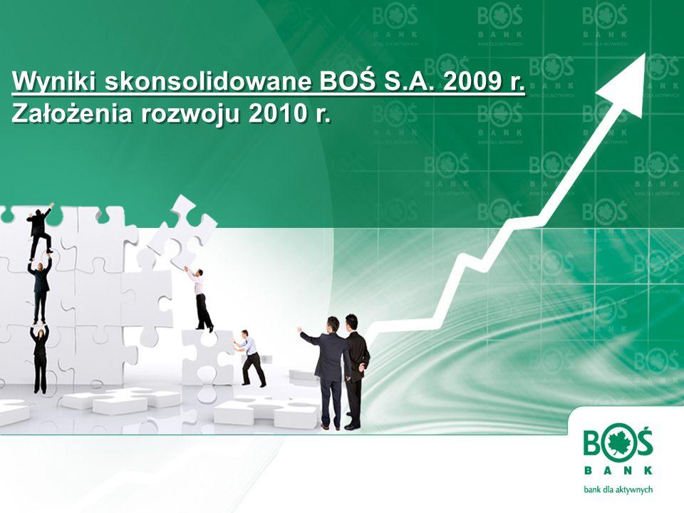 [ Nowa Strategia BOŚ ] Wyniki skonsolidowane BOŚ S.A. 2009 r. Założenia rozwoju 2010 r. Wyniki skonsolidowane BOŚ S.A. 2009 r. Założenia rozwoju 2010