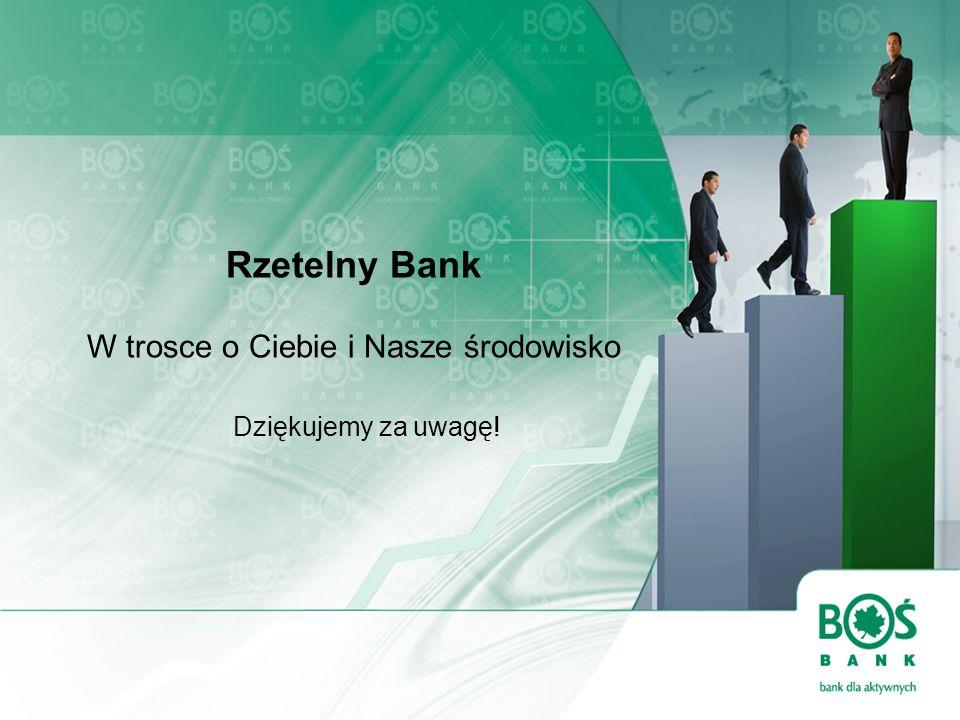 Rzetelny Bank W trosce o Ciebie i Nasze środowisko Dziękujemy za uwagę!