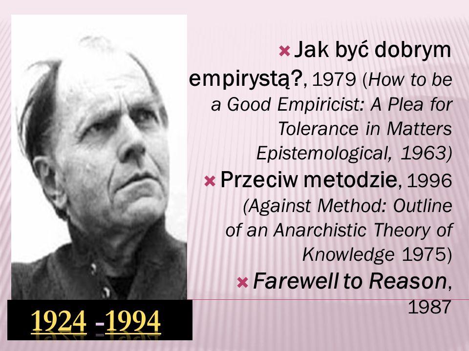 anarchizm kontrintuicjonizm pluralizm dadaizm